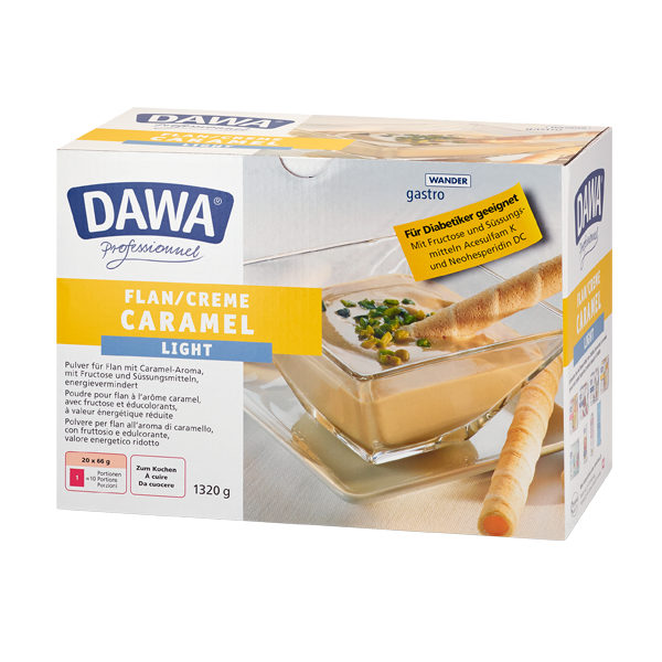 Flan au caramel light Dawa