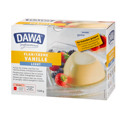Flan à la vanille light Dawa